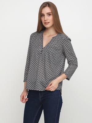 Блуза серо-черная   5343011
