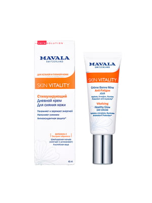 Крем денний для сяйва шкіри стимулюючий Mavala Vitality Vitalizing Healthy Glow Cream (45 мл) | 5341950