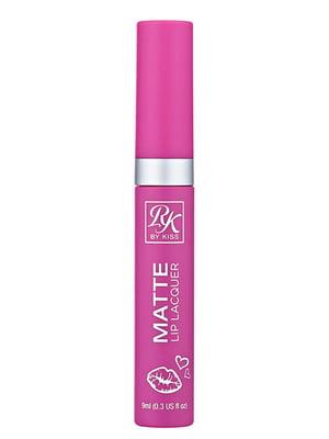 Матовий лак для губ Ruby Matte Lip Lacquer Think Pink - Глибокий рожевий (9 мл) | 5342299