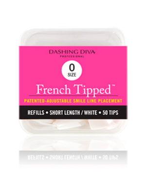 Тіпси «Френч» короткі білі (50 шт.; розмір №0) | 5342451