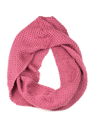 Шарф-снуд розовый | 5343355