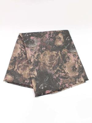 Шарф-палантин з квітковим принтом   5343359