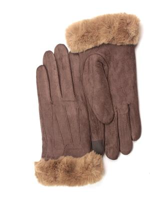 Перчатки для сенсорных экранов коричневые   5343373