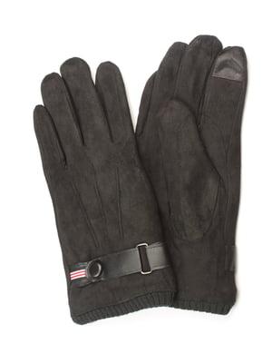 Перчатки утепленные для сенсорных экранов черные | 5343375