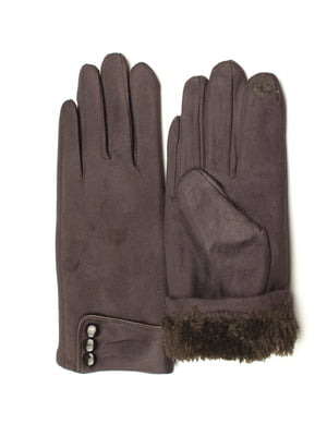 Перчатки для сенсорных экранов темно-коричневые   5343391