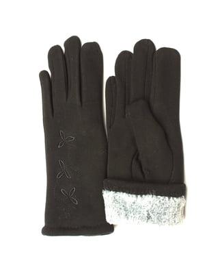 Перчатки черные утепленные | 5343394