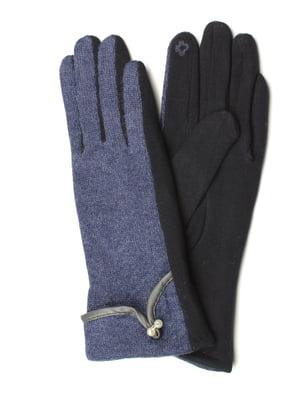 Рукавички для сенсорних екранів синьо-чорні | 5343412