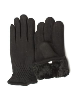 Рукавички чорні утеплені | 5343420
