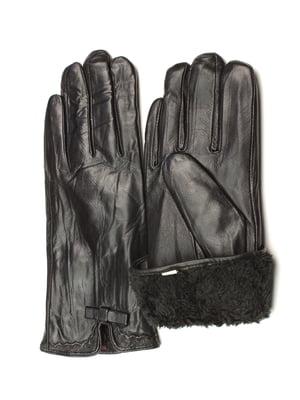 Рукавички чорні утеплені | 5343429