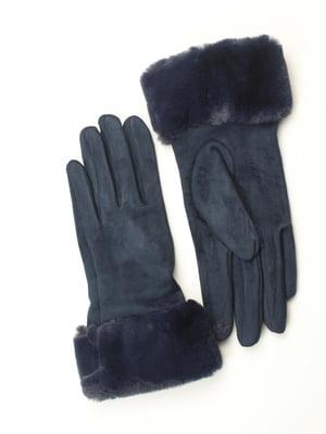 Перчатки для сенсорных экранов синие | 5343437
