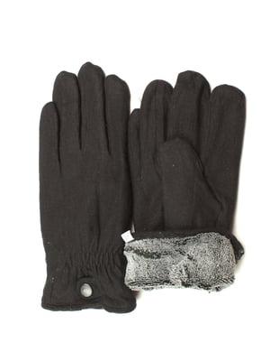 Рукавички чорні утеплені | 5343442