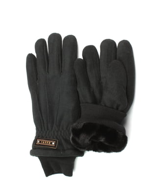 Перчатки черные утепленные | 5343443