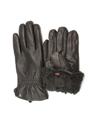 Перчатки черные утепленные | 5343445