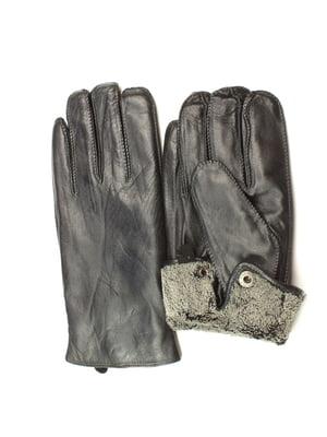 Рукавички чорні утеплені | 5343451