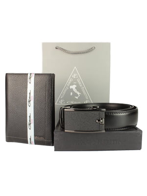 Набір подарунковий: обкладинка для паспорта і ремінь | 5344192