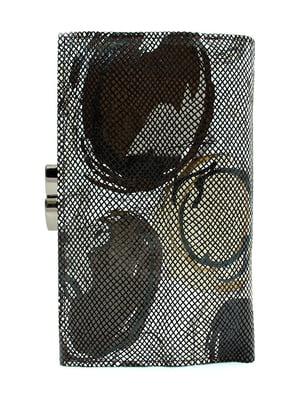 Гаманець коричневий з принтом | 5344300