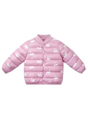 Куртка рожева з принтом | 5339828
