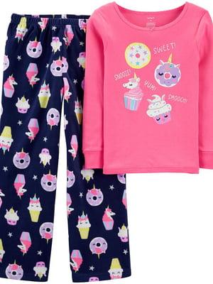 Пижама: лонгслив и брюки флисовые | 5344370