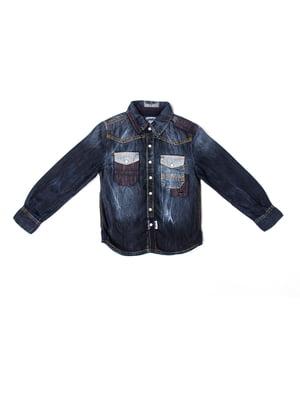 Рубашка темно-синего цвета | 5339675
