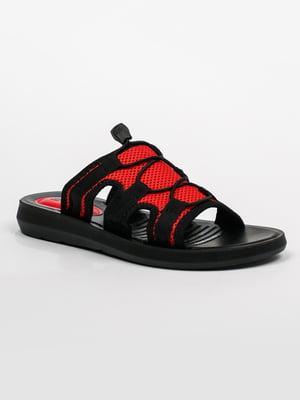Шлепанцы красно-черные | 5343344