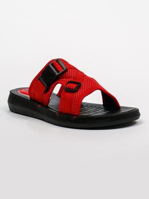 Шлепанцы красно-черные | 5343343