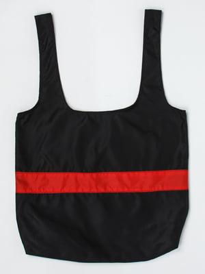 Сумка-шоппер черно-красная | 5321154
