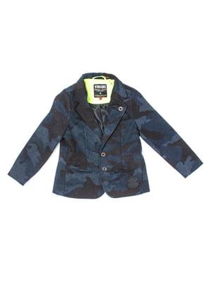 Піджак бірюзово-коричневий | 5339574