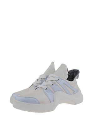 Кроссовки бело-голубые   5213157