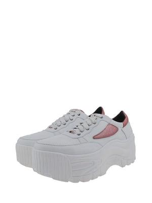 Кроссовки бело-красные   5213213