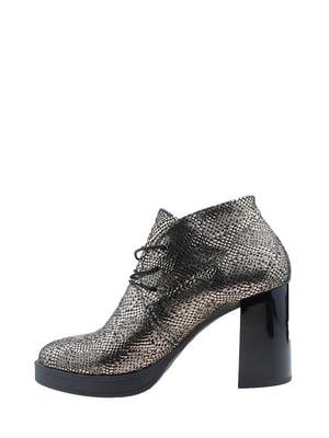 Ботинки черно-золотистые | 5345420