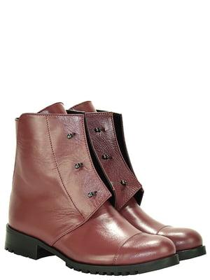 Ботинки бордовые | 5345697