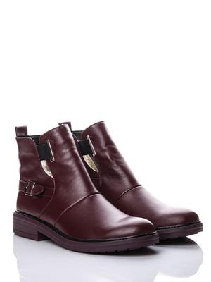 Ботинки бордовые | 5345701