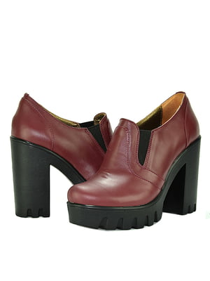 Ботинки бордовые | 5345723