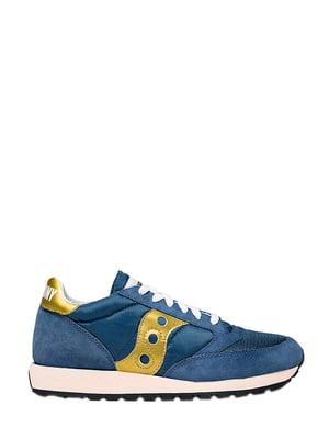Кросівки синьо-золотисті   5345747