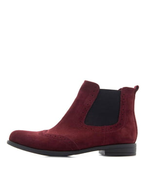 Ботинки бордовые | 5346026
