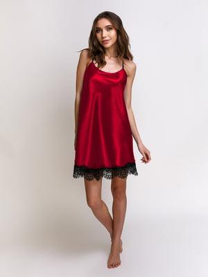 Нічна сорочка бордова | 5341650