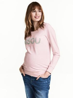 Свитшот для беременных розовый | 5347475