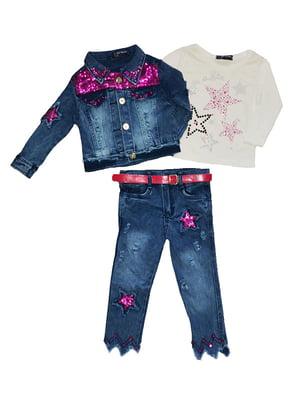 Комплект: джинси, реглан і куртка   5347579