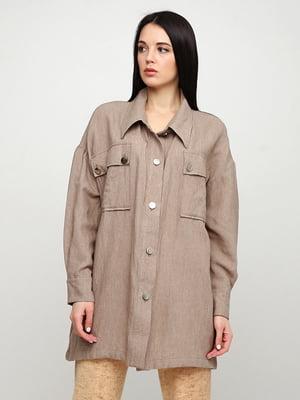Рубашка коричневая | 5347944