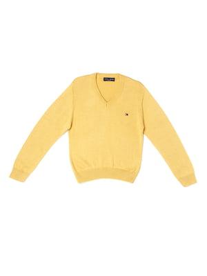 Пуловер гірчичного кольору | 5327030