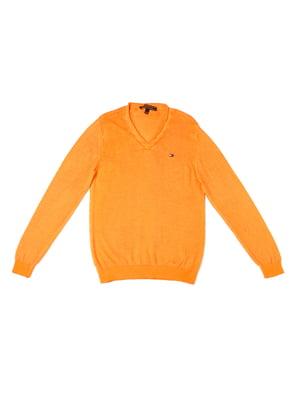 Пуловер помаранчевого кольору | 5327024
