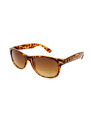 Окуляри сонцезахисні коричневі | 5348285