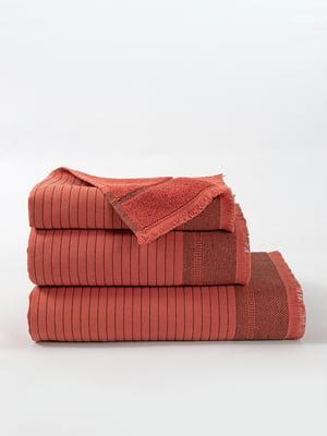 Рушник кольору цегли (45х90 см) | 5342983