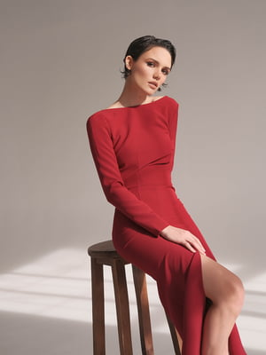 Платье бордовое - Lipinskaya Brand - 5348309