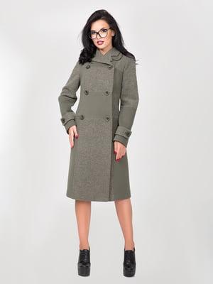 Пальто цвета зеленого чая | 5348011