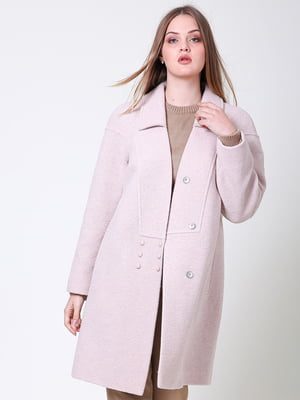Пальто цвета пудры | 5347997