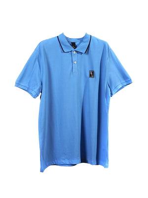 Футболка-поло блакитна | 5348800