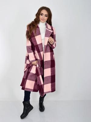 Пальто рожево-бордове | 5275920