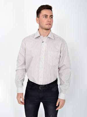 Рубашка молочного цвета в полоску | 5276236
