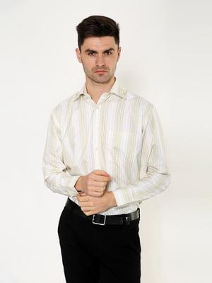Рубашка песочного цвета в полоску | 5276377